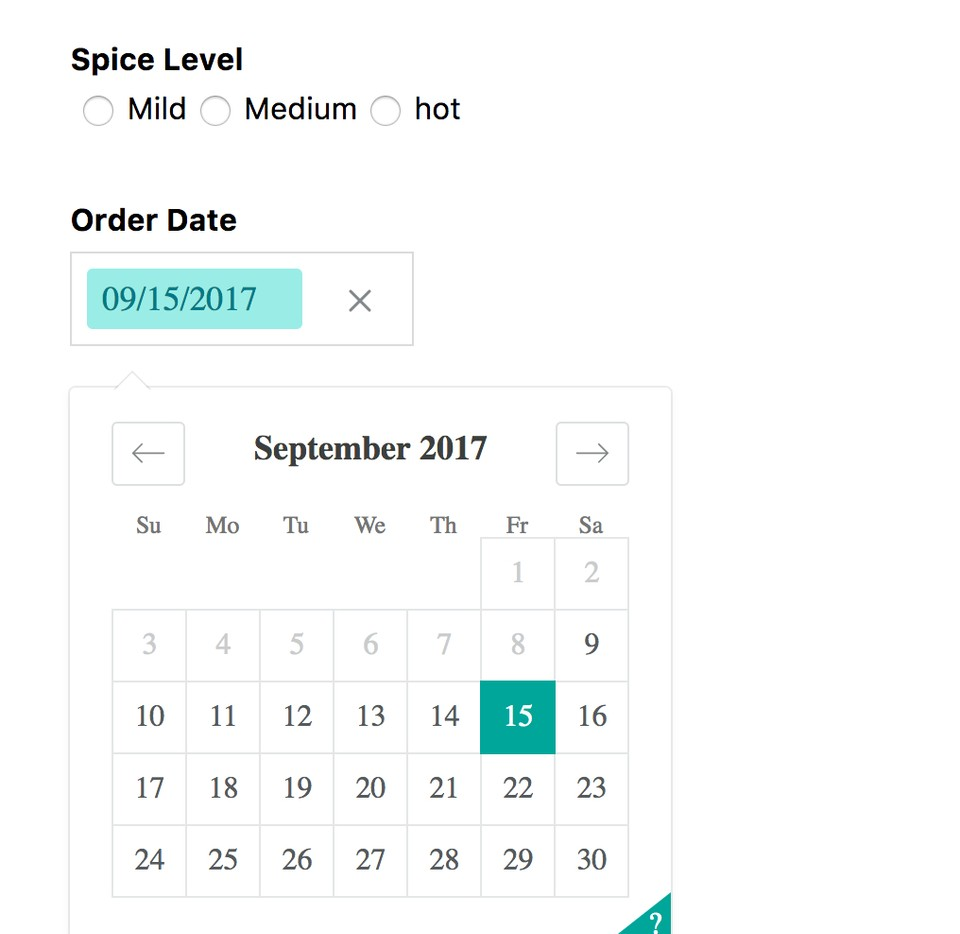Redux-form datepicker input example